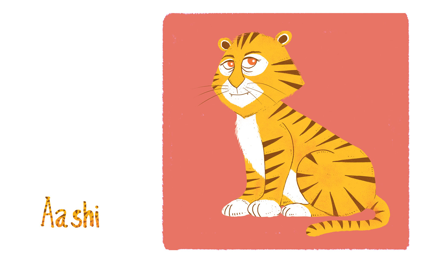 Tiger cub concept for a children story